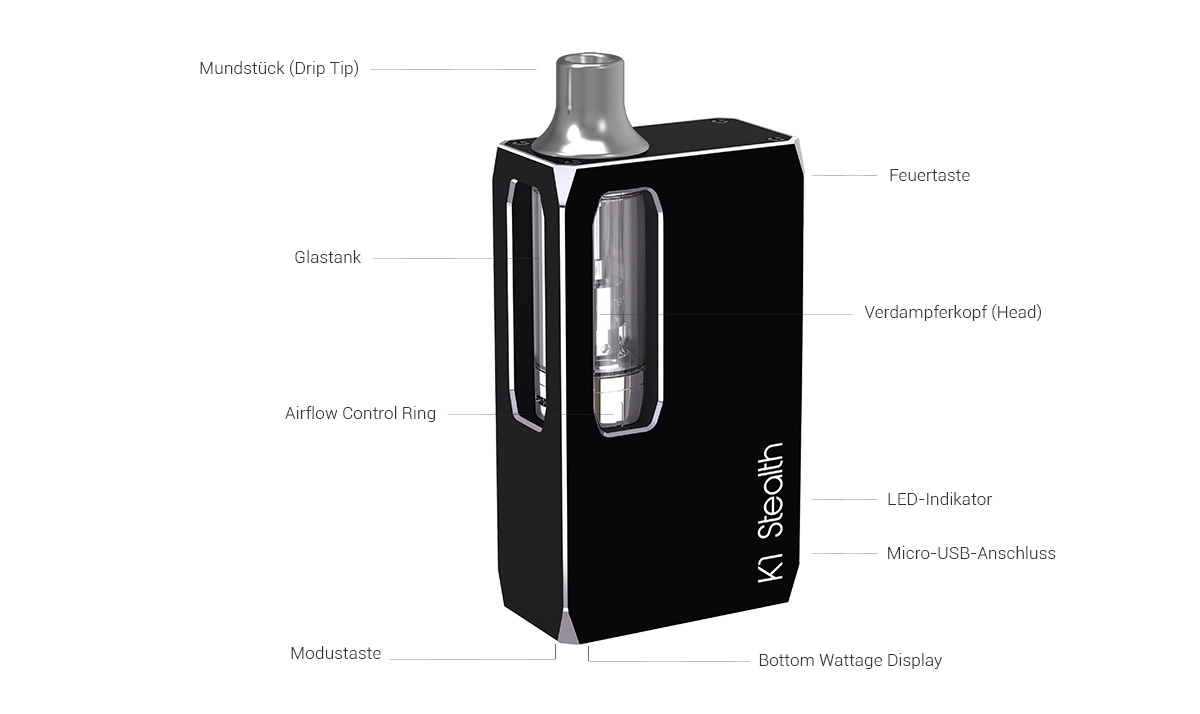 Aspire K1 Stealth E-Zigaretten Set