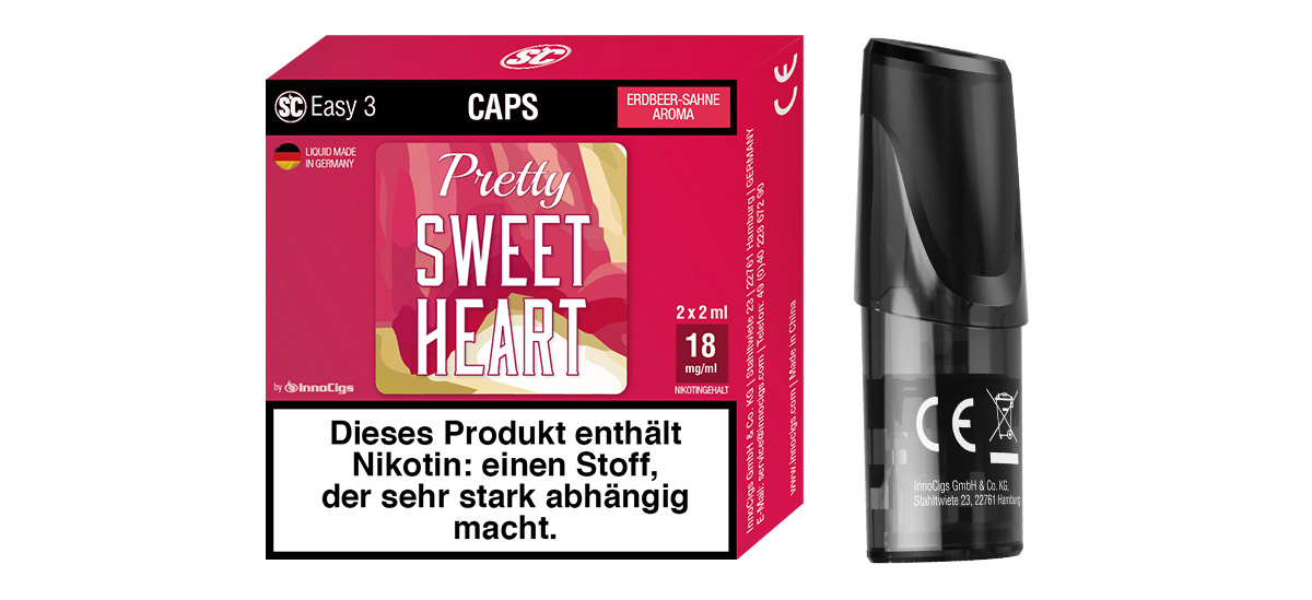 SC Easy 3 Caps Pretty Sweetheart Sahne-Erdbeere (2 Stück pro Packung)
